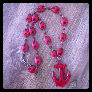 Anchor link necklace